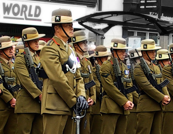 Soldiers from Gurkha Company (Mandalay), in the annual Freedom Parade of Brecon, Wales 2008