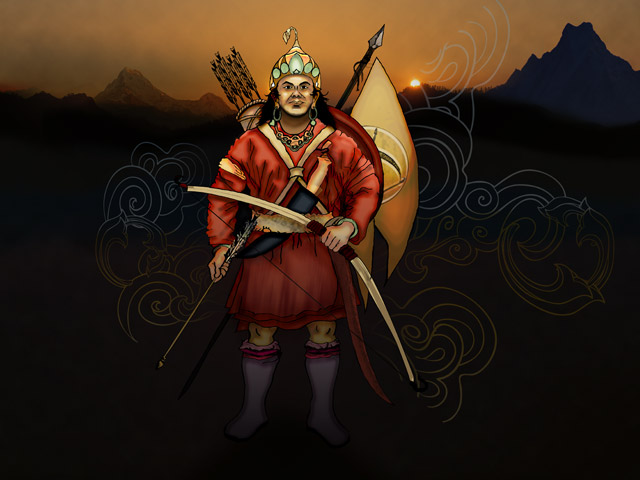 Kirati King Yalambar illustration