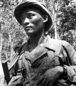 Sgt Bharnabahadur Rai 1st Battalion 10th Gurkha Rifles in the Malayan Jungle