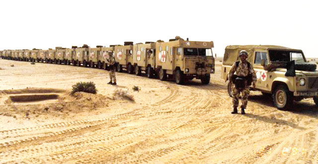 Band of Brigade of Gurkhas in their role as a Medical Corps in Iraq
